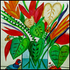 "TROPICAL FLOWERS -- Artist: Susan Rosenthal Size: 11"" x 14"" Medium: Mixed Media Price: $150.00"