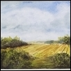 "THY FRUITED PLAIN -- Artist: Cindy Nihart Size: 9"" x 6"" Medium: Watercolor Price: $200.00"