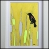 "BLACKBIRD -- Artist: Kiyomi Seko Size: 4"" x 6"" Medium: Watercolor Price: $50.00"