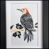 "WOODPECKER -- Artist: Kiyomi Seko Size: 4"" x 6"" Medium: Watercolor Price: $50.00"