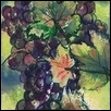 "GRAPES PURPLE -- Artist: Christi Roberts Bony (Bo-nay) Size: 5"" x 7"" Medium: Watercolor Price: $120.00"