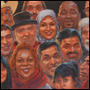 "FACES OF THE WORLD -- Artist: Ron Raymer Size: 24"" x 18"" Price: $1,800.00"