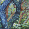 "INTO THE WOODS -- Artist: Susan Wilson Size: 15"" x 20"" Price: $400.00"