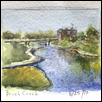 "BRUSH CREEK -- Artist: Marcia Willman Size: 4.5"" x 3.5"" Medium: Watercolor Price: $125.00"