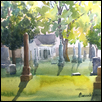"UNION CEMETERY -- Artist: Marcia Willman Size: 15"" x 11"" Medium: Watercolor Price: $550.00"