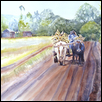 "ON THE ROAD TO KINYA'S -- Artist: Marcia Willman Size: 30"" x 22"" Price: $1,175.00"