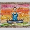 "MEDITATION AT SUNSET -- Artist: Tammie Dickerson Size: 12"" x 9"" Medium: Watercolor Price: $350.00"