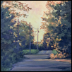 "ALLEY AT SUNSET -- Artist: Cathie Thompson Size: 12"" x 12"" Medium: Oil Price: $250.00 ***SOLD***"