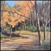 "AUTUMN WALK -- Artist: Cathie Thompson Size: 14"" x 11"" Medium: Oil Price: $250.00 ***SOLD***"