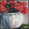 "GERANIUM -- Artist: Nancy Basinski Size: 16"" x 22"" Medium: Oil Price: $400.00"