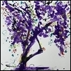 Purple Tree with Bent Branch