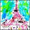 "I THINK I'M GOING TO LIVE IN PARIS -- Artist: Rebecca Tombaugh Size: 11"" x 14"" Price: $250.00"