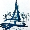 "VIEW FROM THE SEINE -- Artist: Rebecca Tombaugh Size: 4"" x 6"" Price: $150.00"