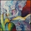 "WET IRIS -- Artist: Gary Cadwallader Size: 40"" x 28"" Medium: Watercolor Price: $485.00"