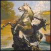 Fountain Horse and Rider