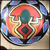 "PLATE WITH HEAD DRESS MASK -- Artist: joseph smith Size: 8"" x 8"" Price: $250.00"