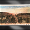 "FLINT HILLS IN THE FALL -- Artist: Alex Hamil Size: 18"" x 12"" Medium: Mixed Media Price: $250.00"