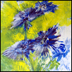 "BLUE FLOWERING -- Artist: Steven Schroeder Size: 9"" x 12"" Medium: Acrylic Price: $150.00 ***SOLD***"