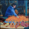 "FRENCH MARKET -- Artist: Kathleen Connors Size: 8"" x 10"" Price: $225.00"