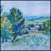 "ORCHARDS OF PROVENCE -- Artist: Kathleen Connors Size: 14"" x 11"" Price: $225.00"