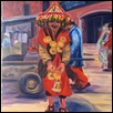 "WATER SELLER IN MARRAKECH -- Artist: Elisabeth Sauer Size: 16"" x 20"" Price: $600.00"