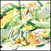 "ABSTRACT WITH GREEN -- Artist: Mary Ann Coonrod Size: 18"" x 12"" Medium: Watercolor Price: $200.00"