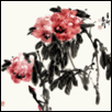 "RED PEONY FLOWERS -- Artist: Zhiming Fu Size: 27"" x 27"" Price: $2,000.00"