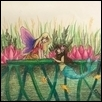 "NEW FRIENDS -- Artist: Erin Lavin Size: 5"" x 6"" Medium: Color Pencil / Ink Price: $100.00"