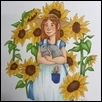 "SUNFLOWERS -- Artist: Erin Lavin Size: 6"" x 7"" Medium: Pen/Ink Price: $150.00"