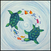 "IN HARMONY -- Artist: Erin Lavin Size: 7.5"" x 7.5"" Medium: Color Pencil / Ink Price: $110.00"