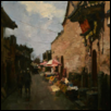 "PINGYAO THE SCENERY -- Artist: Guangming Chen Size: 24"" x 31"" Price: $4,000.00"