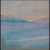 "THE MEDITERRANEAN: VIEW FROM NAPLES -- Artist: Dale Hartley Size: 9.5"" x 4.5"" Price: $250.00"