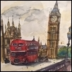 "LONDON -- Artist: Liz Vargas Size: 8"" x 10"" Price: $325.00"