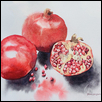 RUBY GEMS -- Artist: Nimesha Udani Size: 8.5'' x 11.5'' Medium: Watercolor Price: $175.00 ***SOLD***