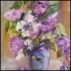"LILAC DELIGHT -- Artist: Diane Stolz Size: 18"" x 24"" Medium: Oil Price: $800.00"