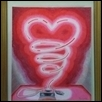 "NEON HEART -- Artist: tony cartella Size: 14"" x 16"" Medium: Pencil/Charcoal Price: $400.00"