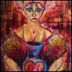 "VOICES, CARRIE -- Artist: Alexander Raine Size: 24"" x 36"" Medium: Mixed Media Price: $250.00"