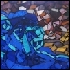 "BIG BLUE WAVE -- Artist: Deb Chaussee Size: 22"" x 13"" Medium: Glass Price: $185.00 ***SOLD***"