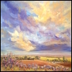 "EVENING WANDERING -- Artist: Wendy Taylor Size: 26"" x 26"" Price: $750.00"