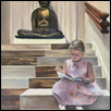 "THE LITTLE DOCENT -- Artist: Elaine (Laney) Haake Size: 20"" x 24"" Medium: Oil Price: $1,750.00"