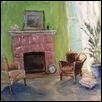 "LIVING ROOM -- Artist: Pat Veno Size: 8"" x 6"" Medium: Oil Price: $75.00"