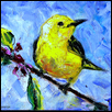"A TINY VISITOR -- Artist: Smitha George Size: 10"" x 8"" Medium: Oil Price: $200.00"