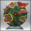 "MONARCH LAYOVER -- Artist: Wanda Tyner Size: 17"" x 19"" Medium: Glass Price: $680.00"