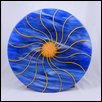 "SUN RAYS -- Artist: Wanda Tyner Size: 16"" x 16"" Medium: Glass Price: $215.00"