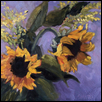 "LOVE THOSE SUNFLOWERS -- Artist: Jacqueline Smith Size: 8"" x 8"" Medium: Oil Price: $275.00 ***SOLD***"