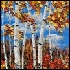 "FALL FLING -- Artist: Gayle Faulkner Size: 20"" x 20"" Medium: Acrylic Price: $450.00"