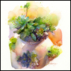 "SUNNY SUCCULENTS -- Artist: John Keeling Size: 11"" x 14"" Medium: Watercolor Price: $500.00"
