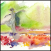 "DANCING WITH TULIPS -- Artist: John Keeling Size: 10"" x 8"" Medium: Watercolor Price: $200.00 ***SOLD***"
