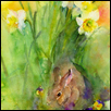 "THE GARDEN VISITOR -- Artist: John Keeling Size: 12"" x 16"" Medium: Watercolor Price: $500.00"