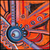 "CAULDRON OF LIGHT -- Artist: Holly Schenk Size: 30"" x 30"" Medium: Acrylic Price: $1,600.00"